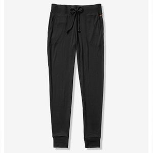 PINK Victoria's Secret Pants - PINK Cozy Classic Jogger - Pure Black
